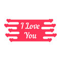 Pink i love you melted sign Royalty Free Stock Photo