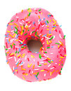 Pink Iced Doughnut Royalty Free Stock Photos