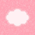 Pink Invitation Card with Flowers Stock Photography