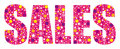 Pink joyful sales banner.