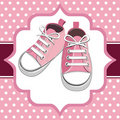 Pink kids sneaker Stock Photography