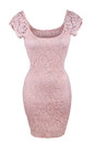 Pink lace dress Royalty Free Stock Photo