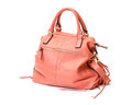 Pink Leather Ladies Handbag Stock Images