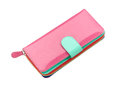 Pink leather purse Royalty Free Stock Photography