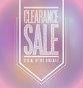 Pink lights clearance sale poster sign banner illustration design Royalty Free Stock Photos