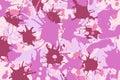 Pink lilac shades ink splashes background