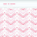 Pink lineart leaves chevron horizontal torn vector seamless pattern background with hand drawn elements Stock Image