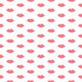 Pink lips seamless pattern
