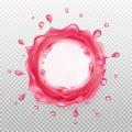 Pink liquid splash. Royalty Free Stock Photo