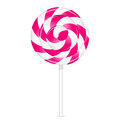 Pink lollipop vector illustration of Stock Image