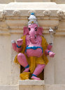 Pink Lord Ganesha in Lal Bagh, India's Bangalore. Royalty Free Stock Photo