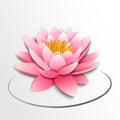 Pink lotus flower. Paper cutout Royalty Free Stock Photo