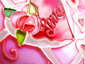 Pink love background Stock Image