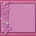 Pink love background Royalty Free Stock Photo