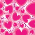 Pink Love Connect Seamless Pattern_eps Stock Photo