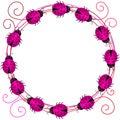 Pink Love Ladybugs Border Frame Royalty Free Stock Photo