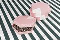 Pink luxury chocolate box