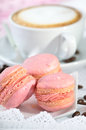 Pink macarons Stock Photo
