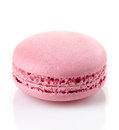 Pink macaroon isolated on white background Stock Photography