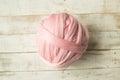Pink merino wool ball Royalty Free Stock Photo