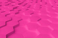 Pink monochrome hexagon tiles abstract background