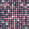 Pink mosaic on dark background Royalty Free Stock Images