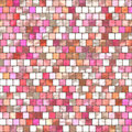 Pink mosaic tiling seamless background with the pattern Royalty Free Stock Image