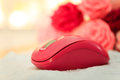 Pink mouse Royalty Free Stock Photo