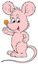 Pink mouse (vector clip-art) Stock Photography