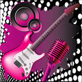 Pink music Stock Photo