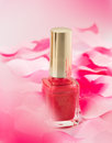Pink nail polish Royalty Free Stock Photography