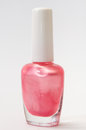Pink nail polish on a white background Royalty Free Stock Photo
