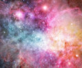 Pink nebula Stock Photo