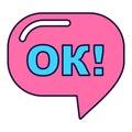 Pink ok sign