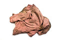 A pink old rag on white background Royalty Free Stock Photo