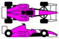 Pink open wheel car Stock Photos