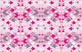 Pink ornamental background with decorative fish Stock Image