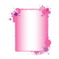 Pink Paint Splash Frame Stock Photo