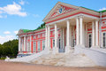 Pink palace in kuskovo park in moscow side view Stock Photography