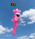 Pink panther kite Royalty Free Stock Images