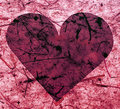 Pink paper heart Stock Photography