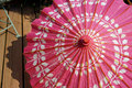 Pink paper parasol Royalty Free Stock Photo