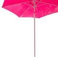 Pink parasol margin isolated on white Stock Image