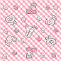 Pink pastel baby background Royalty Free Stock Photo