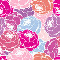 Pink pattern seamless with roses in red and tones Stock Images