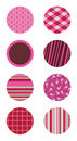 Pink Patterned Circles Royalty Free Stock Image