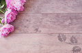 Pink Peonies Flowers on a Wooden Background. Styled Marketing Photography. Styled Stock Photography. Blog Header Image