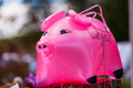 Pink pig inflatable Royalty Free Stock Image