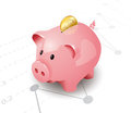Pink piggy bank Royalty Free Stock Image