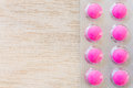 Pink pills in blister pack Royalty Free Stock Photo